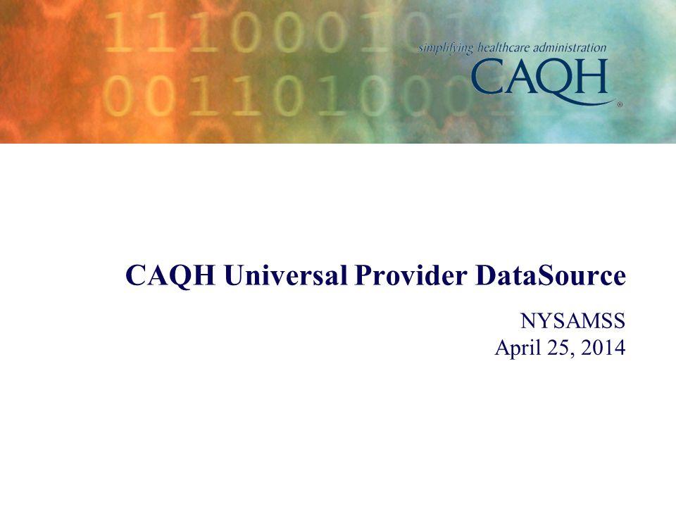 CAQH Universal Provider DataSource