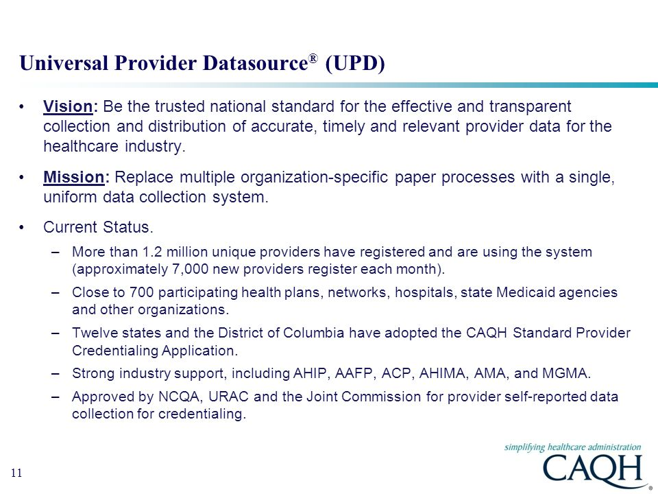 Universal Provider Datasource® (UPD)
