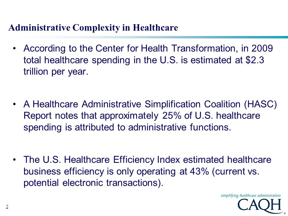 Administrative Complexity in Healthcare