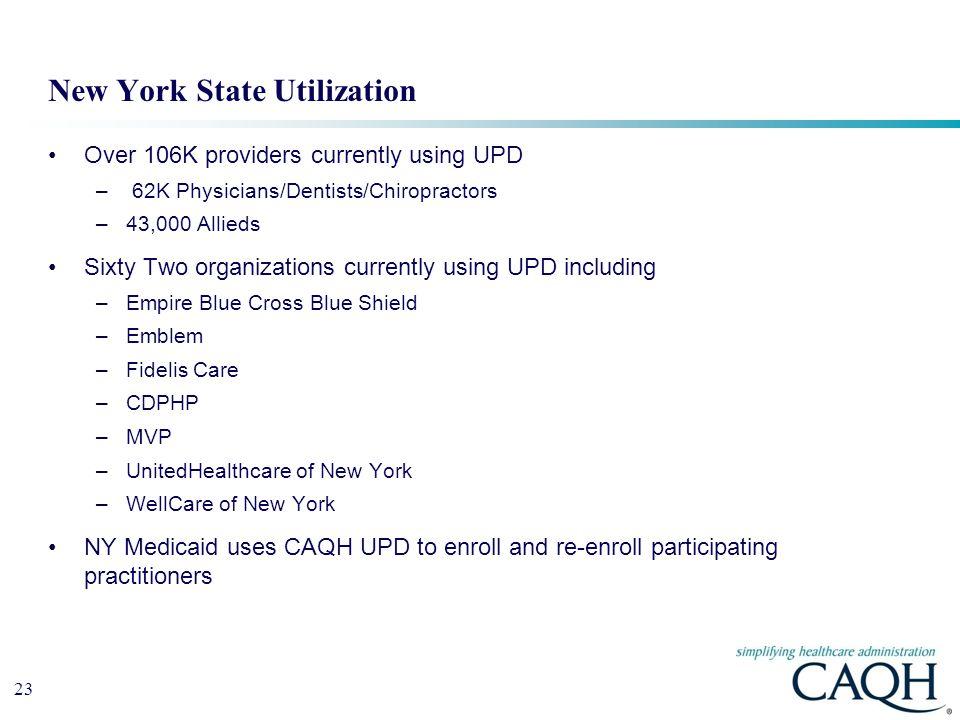 New York State Utilization
