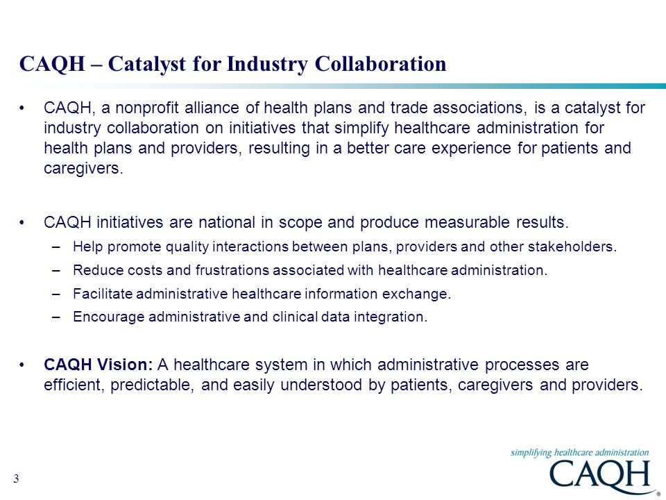 CAQH – Catalyst for Industry Collaboration