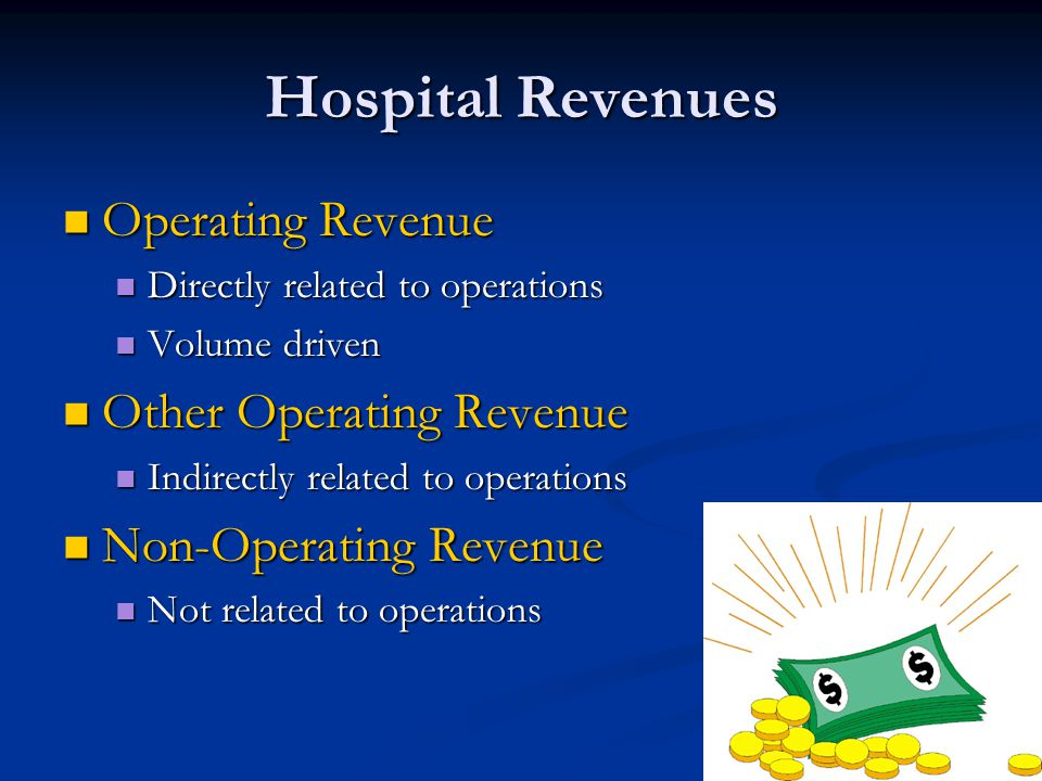 Hospital Revenues Operating Revenue Other Operating Revenue