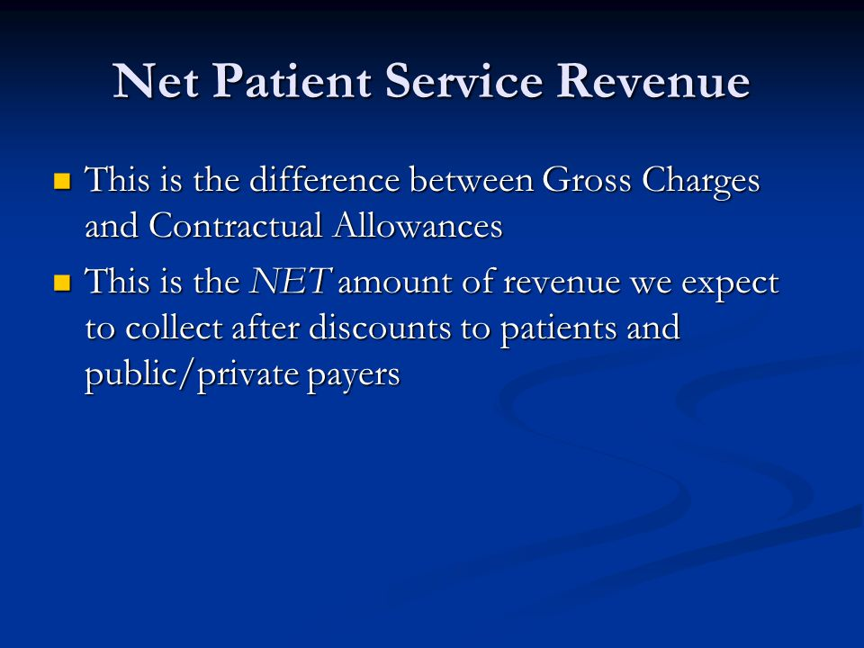 Net Patient Service Revenue