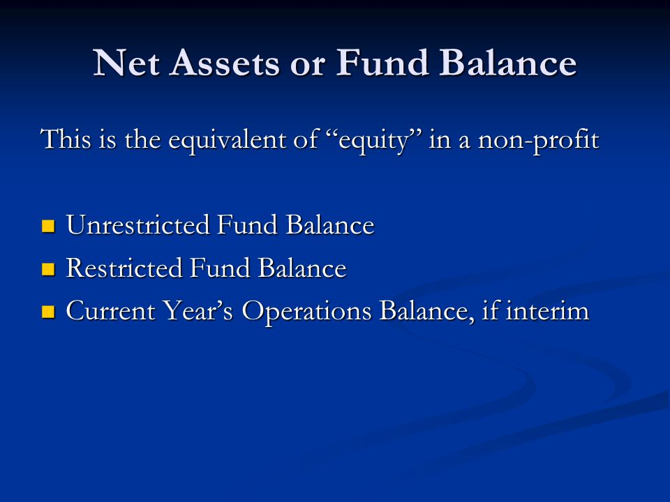 Net Assets or Fund Balance