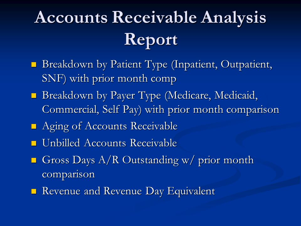account receivable reporting
