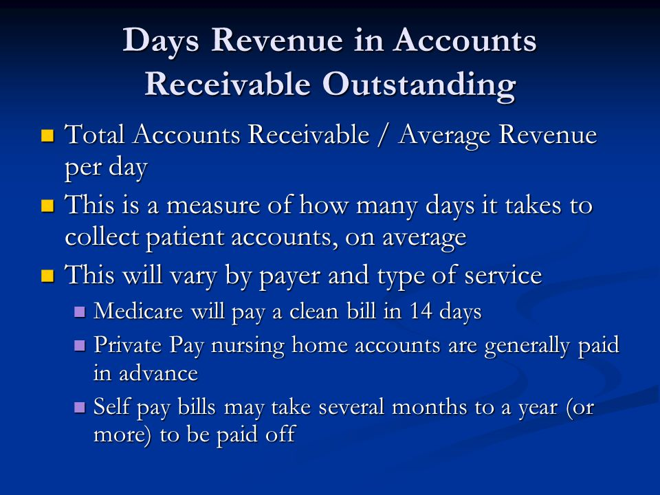 Days Revenue in Accounts Receivable Outstanding