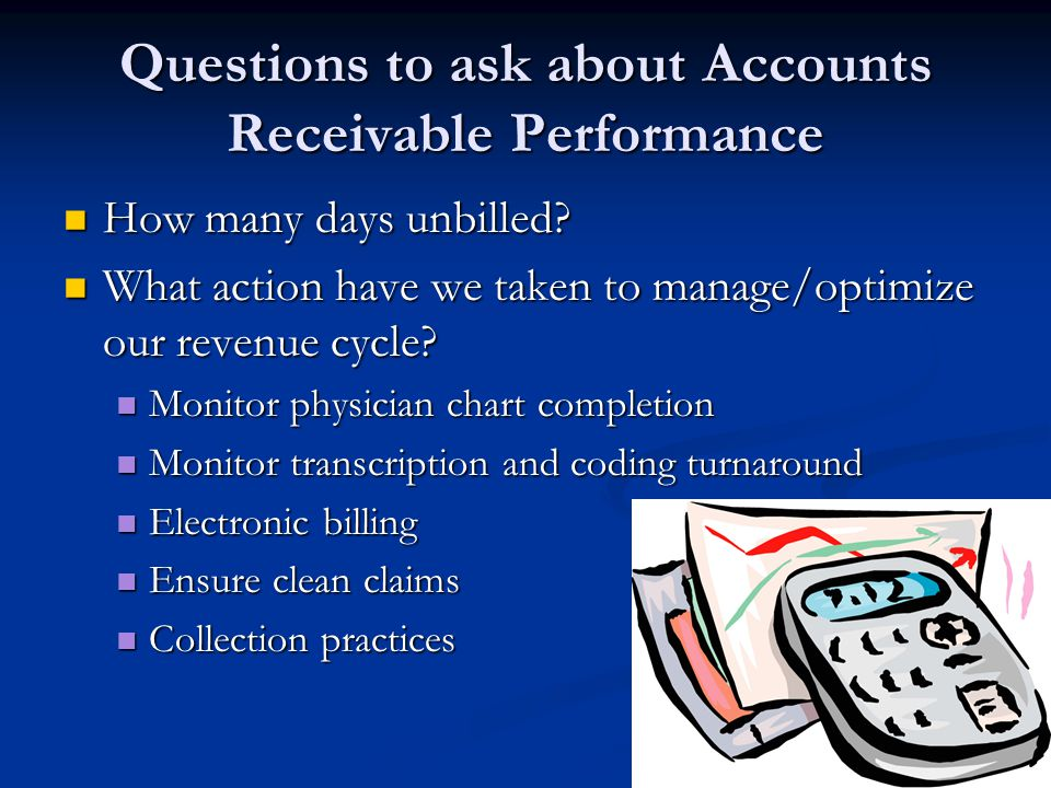 Questions to ask about Accounts Receivable Performance