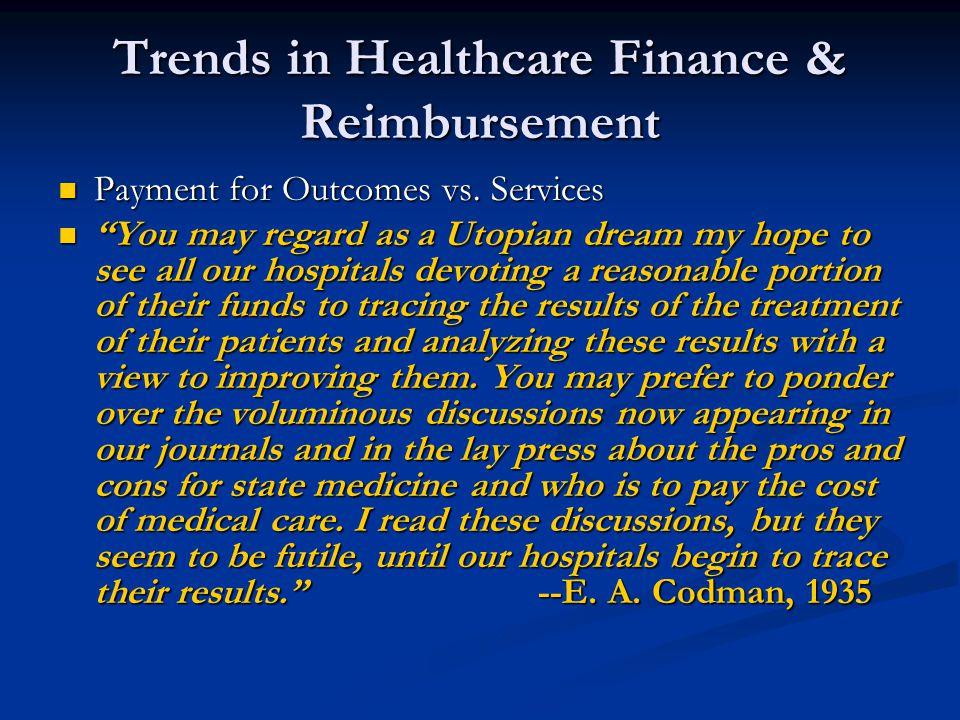 Trends in Healthcare Finance & Reimbursement