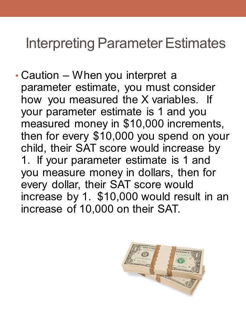 Interpreting Parameter Estimates