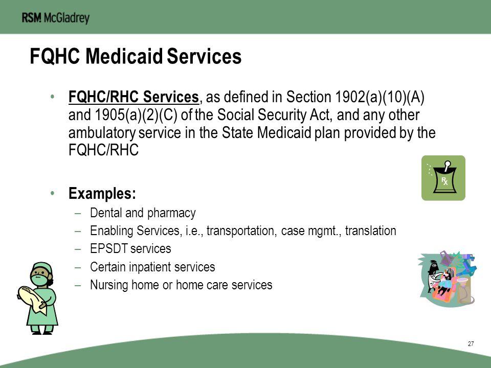 FQHC Medicaid Services