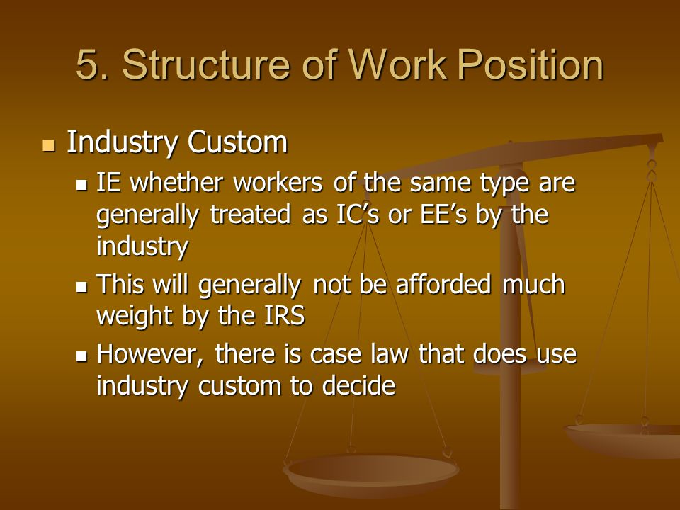 5. Structure of Work Position