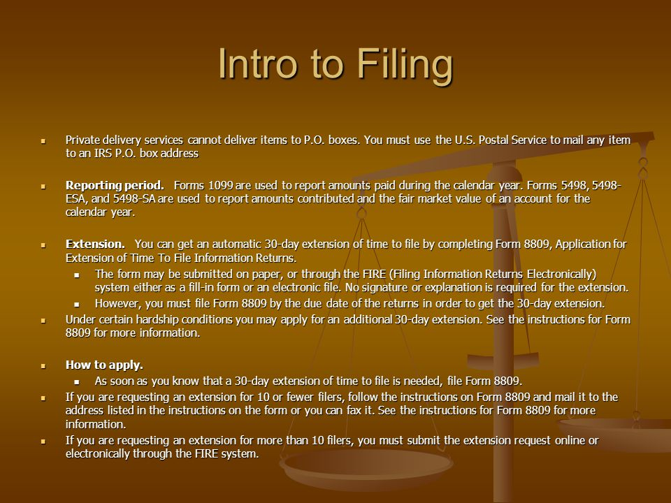 Intro to Filing