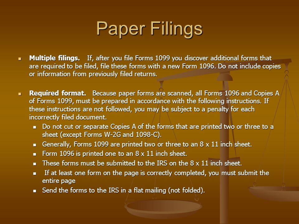 Paper Filings