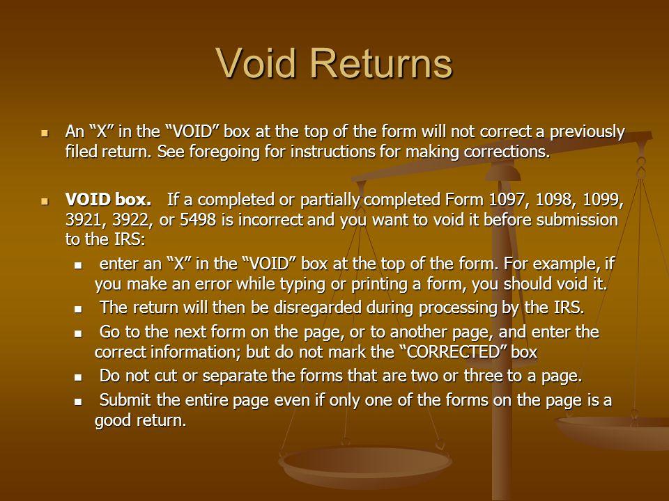 Void Returns