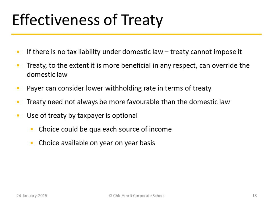 Effectiveness of Treaty