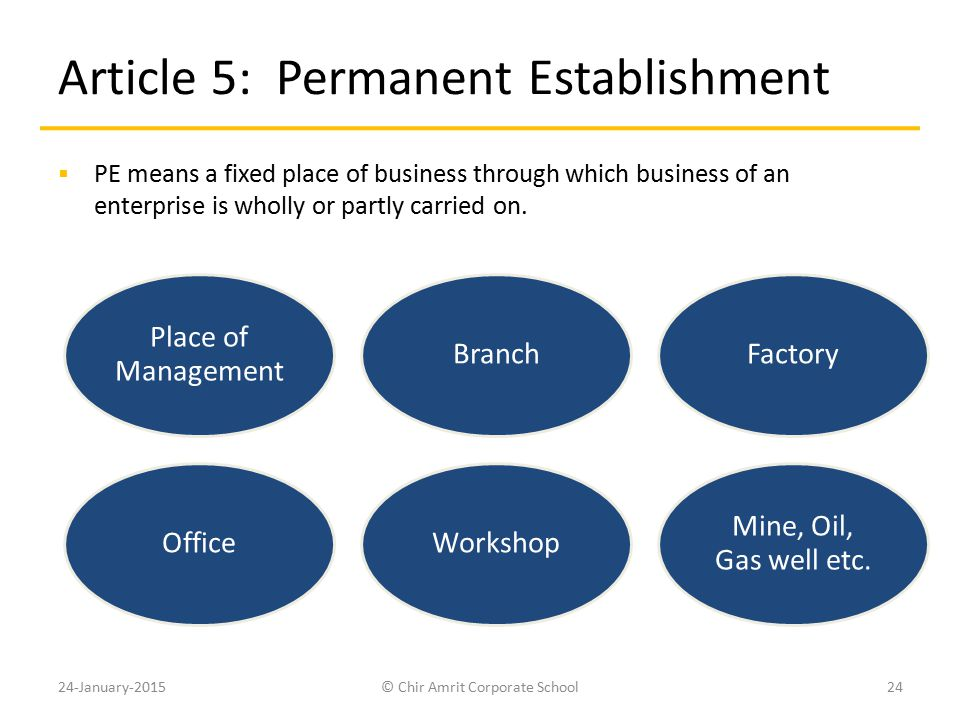 Article 5: Permanent Establishment