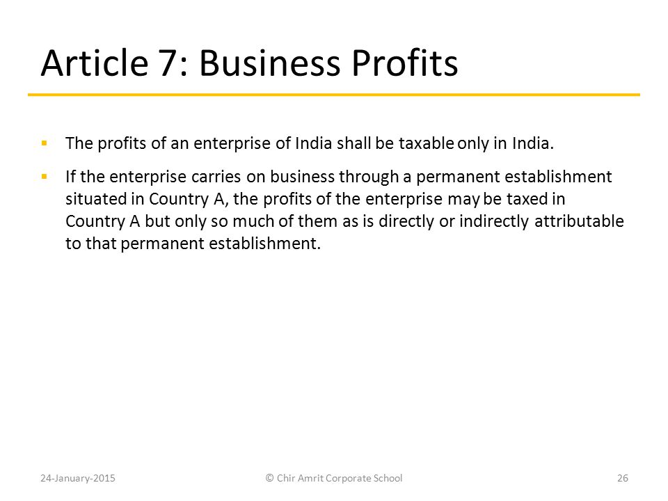 Article 7: Business Profits