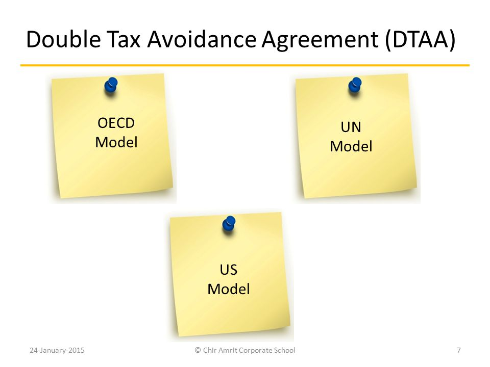 Double Tax Avoidance Agreement (DTAA)
