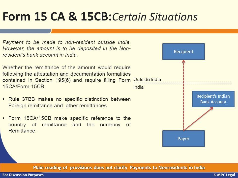 Recipient s Indian Bank Account