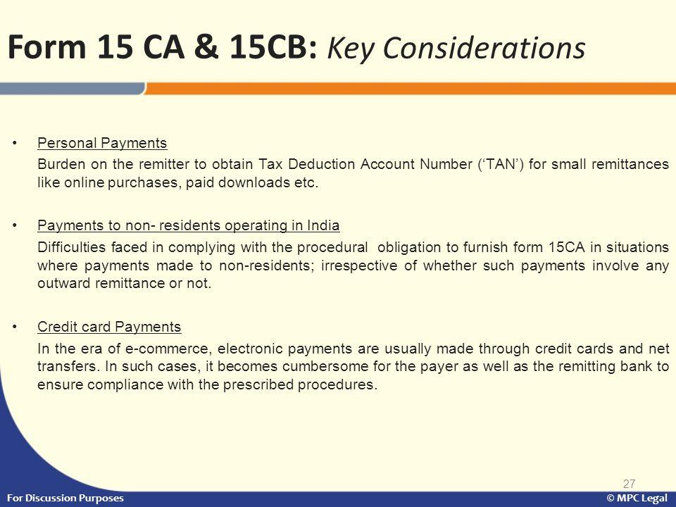 Form 15 CA & 15CB: Key Considerations