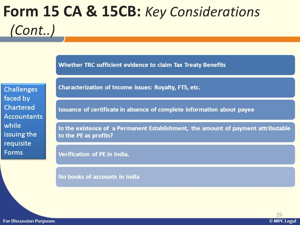Form 15 CA & 15CB: Key Considerations