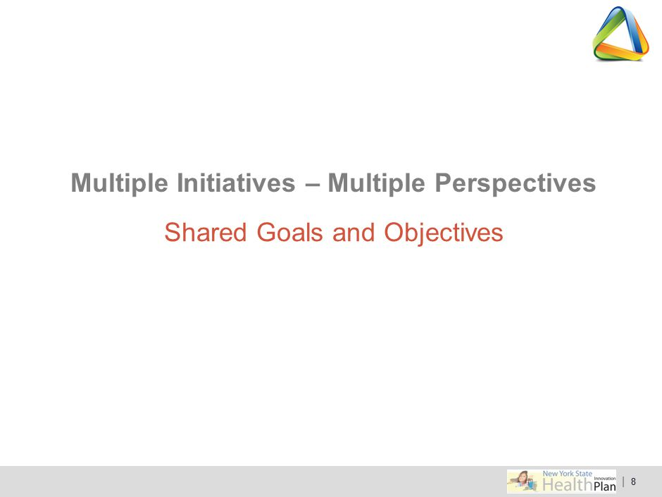 Multiple Initiatives – Multiple Perspectives