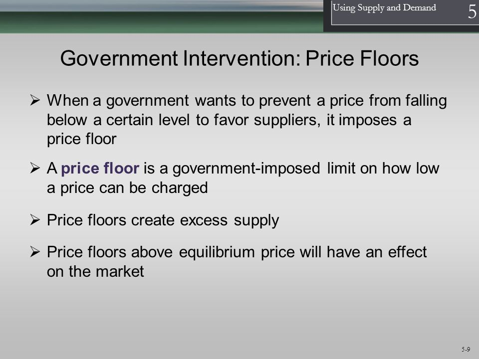 Government Intervention: Price Floors