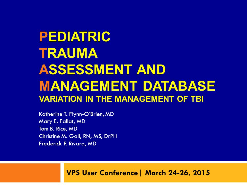VPS User Conference| March 24-26, 2015