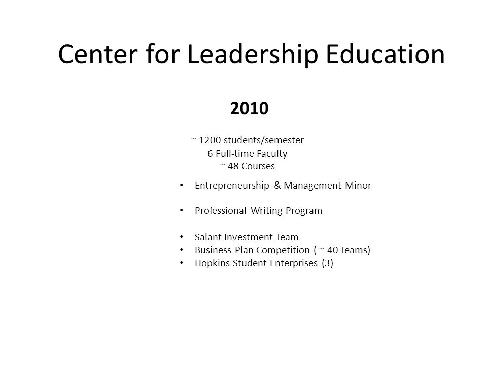 Center for Leadership Education