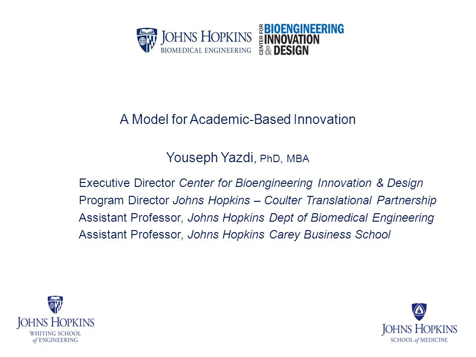 A Model for Academic-Based Innovation
