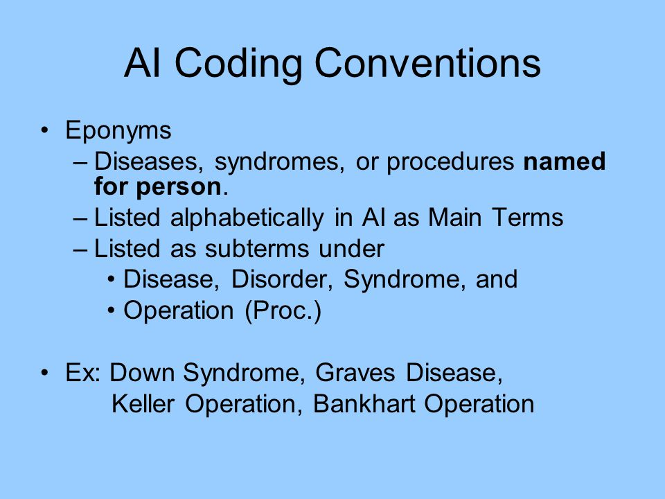 AI Coding Conventions Eponyms