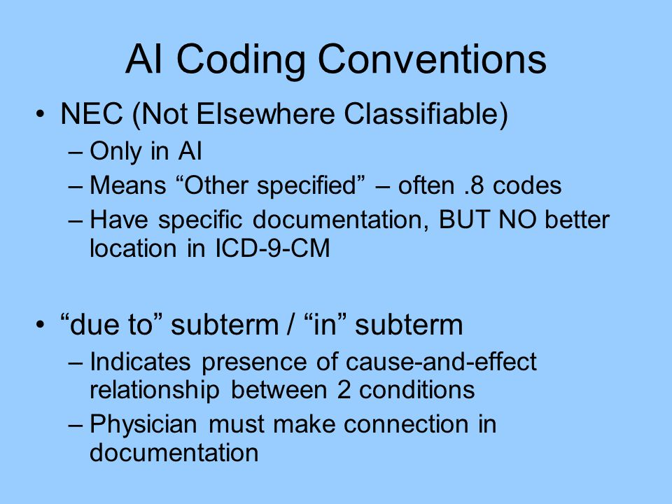 AI Coding Conventions NEC (Not Elsewhere Classifiable)