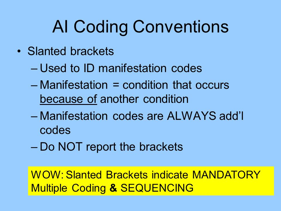 AI Coding Conventions Slanted brackets Used to ID manifestation codes