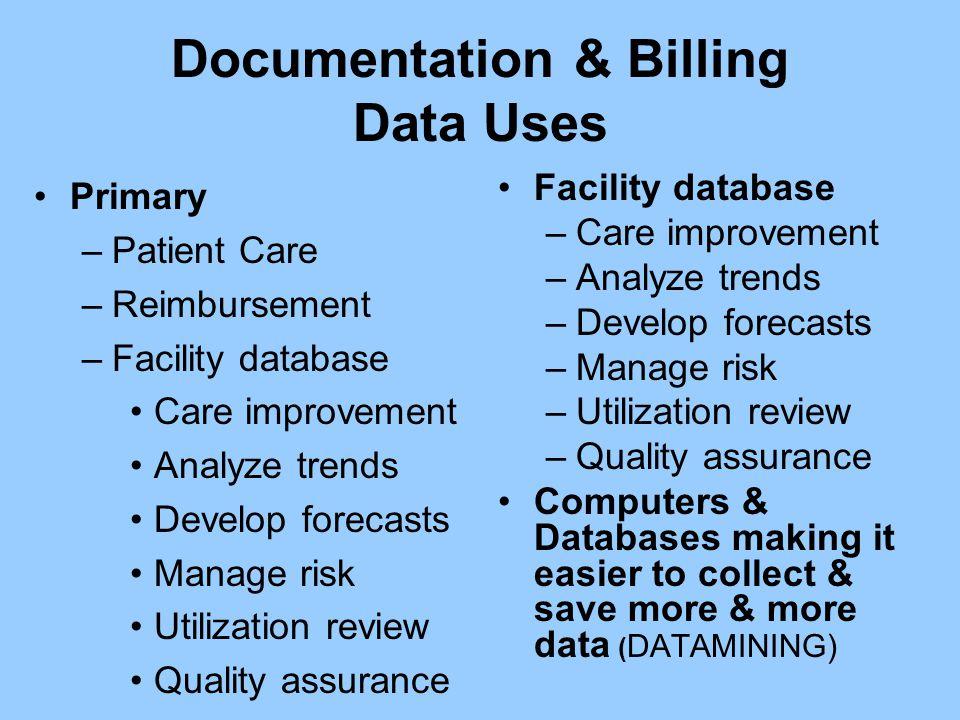 Documentation & Billing Data Uses
