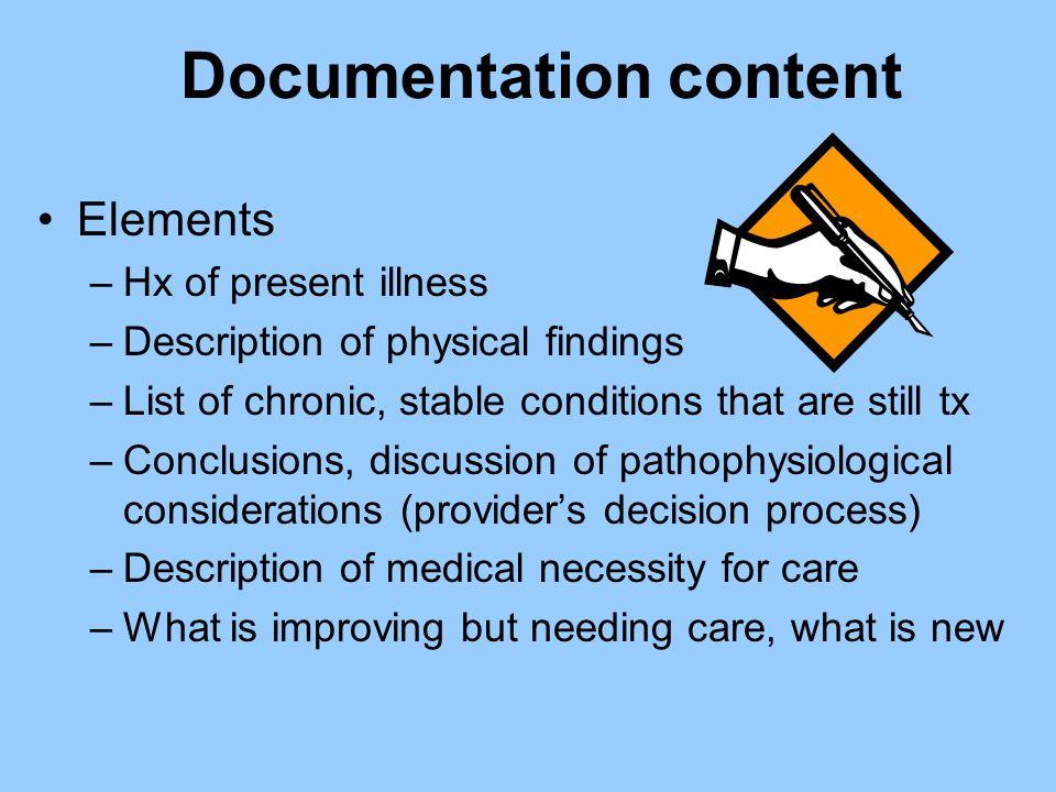 Documentation content