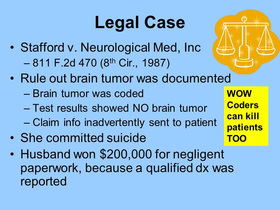 Legal Case Stafford v. Neurological Med, Inc