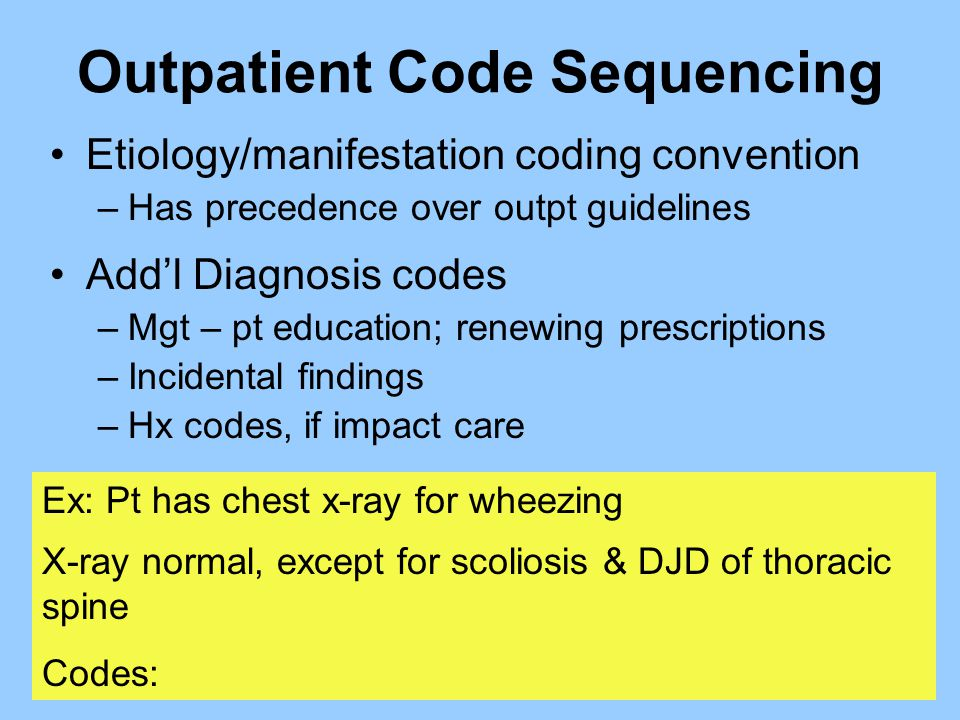Outpatient Code Sequencing
