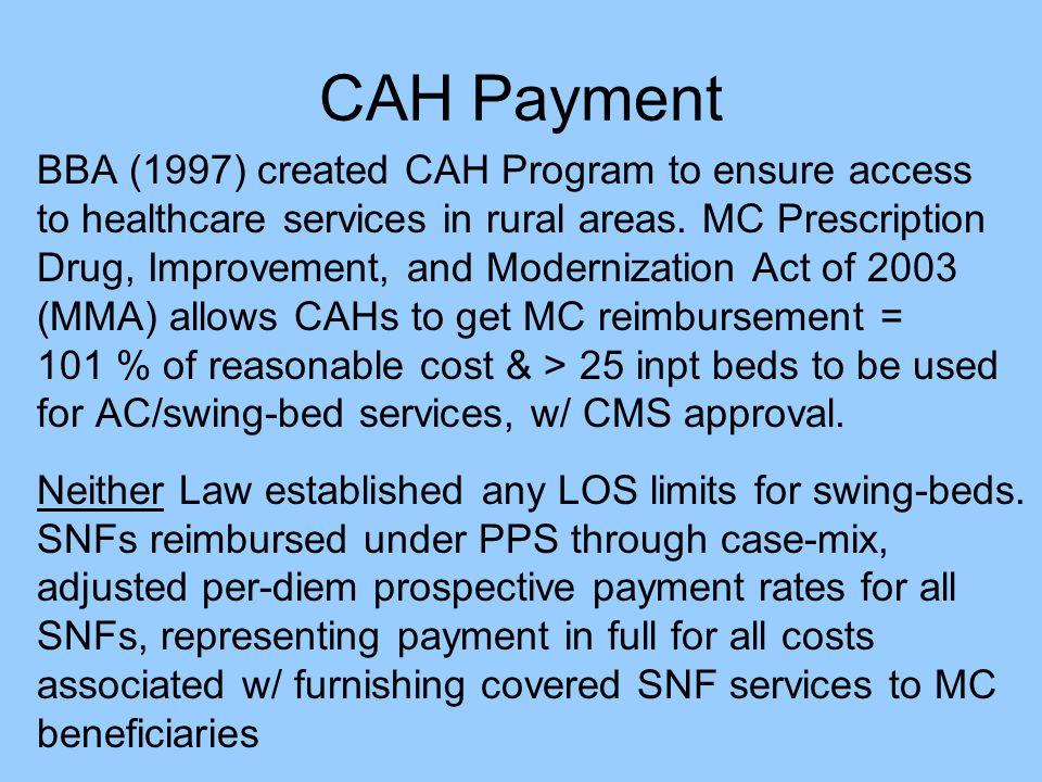 CAH Payment