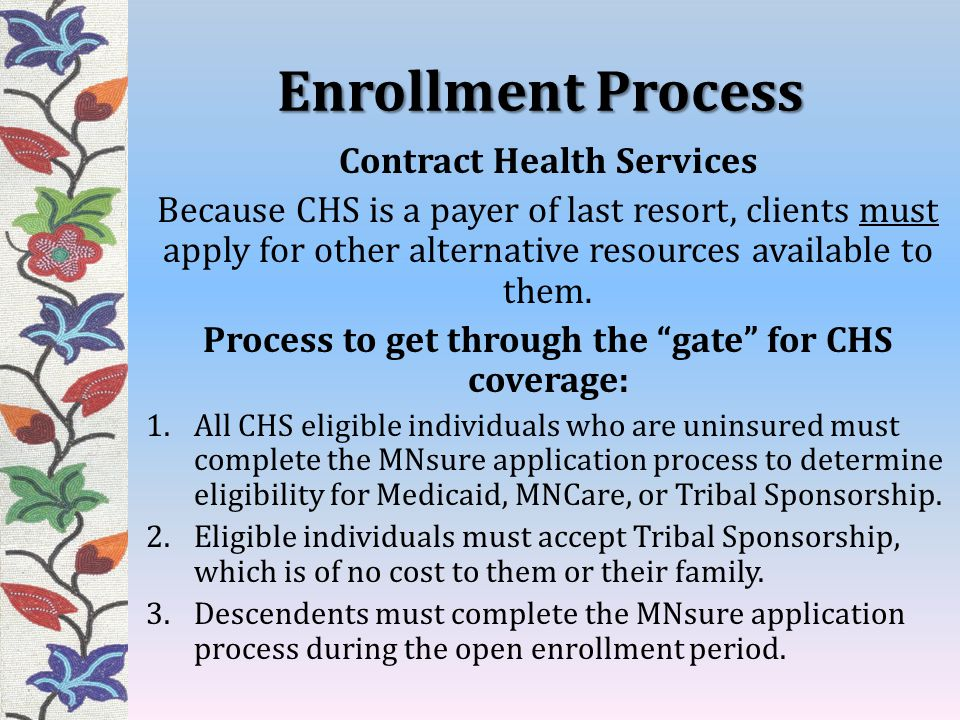 Enrollment Process Contract Health Services