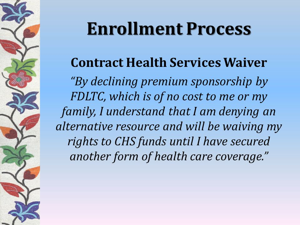 Contract Health Services Waiver