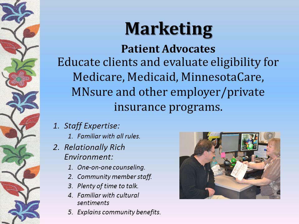Marketing Patient Advocates.