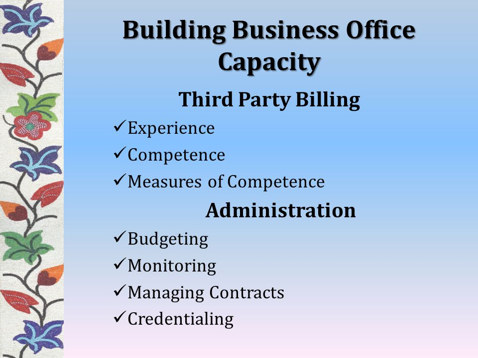 Building Business Office Capacity