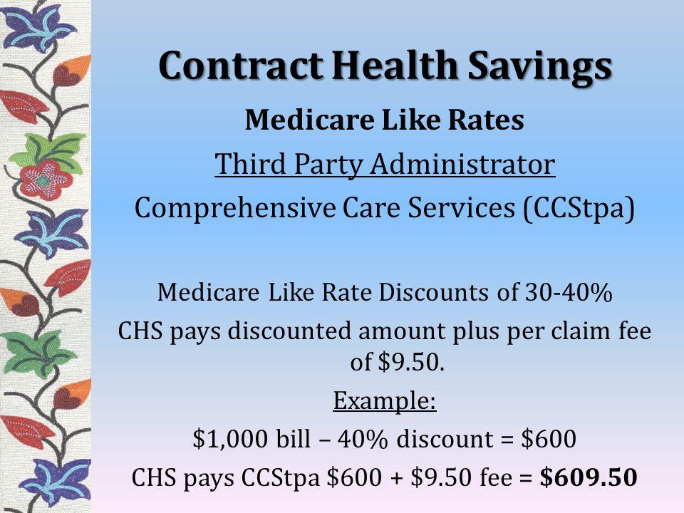 Contract Health Savings