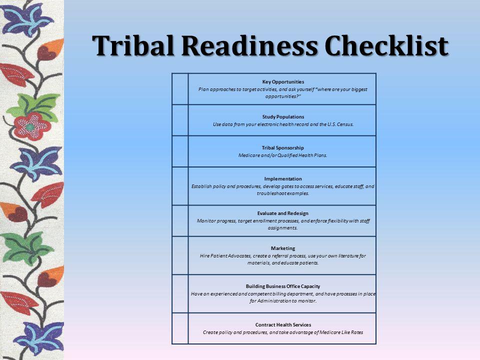 Tribal Readiness Checklist