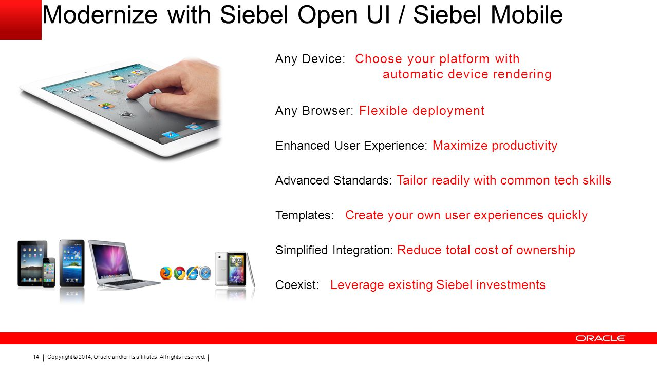Modernize with Siebel Open UI / Siebel Mobile