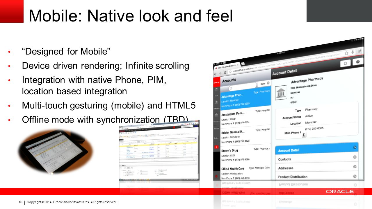 Mobile: Native look and feel