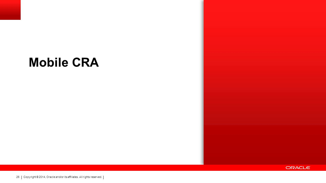 Mobile CRA