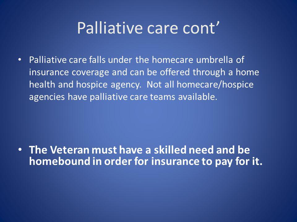Palliative care cont'
