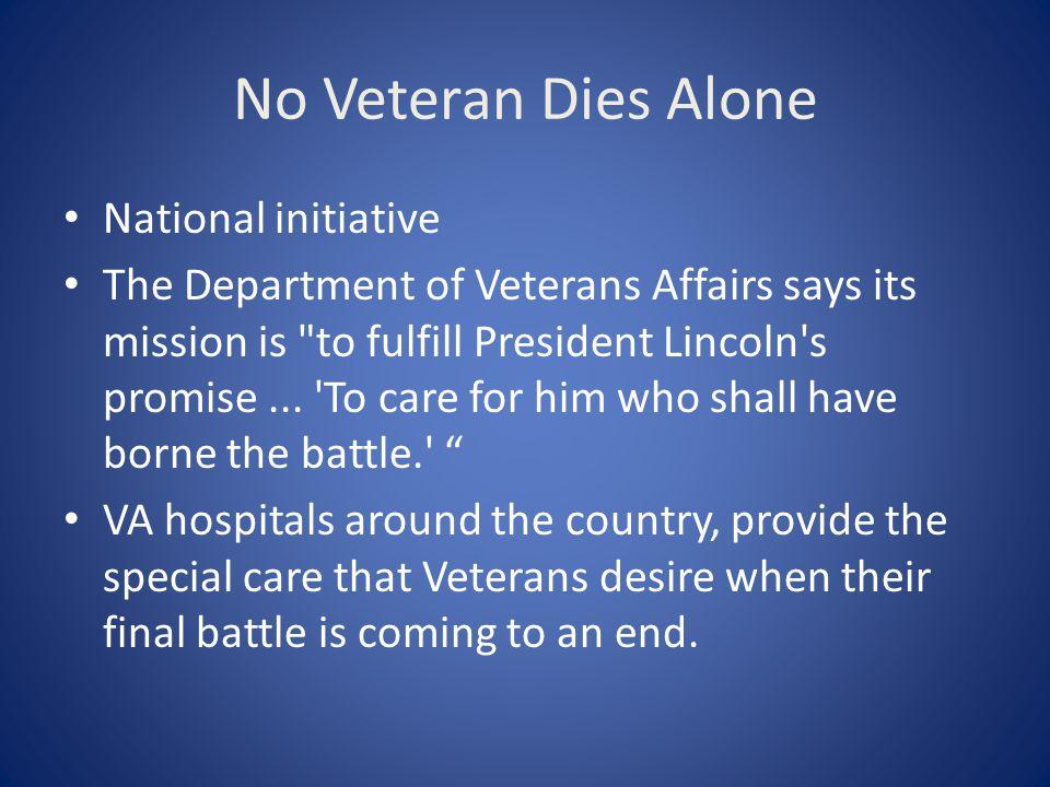 No Veteran Dies Alone National initiative