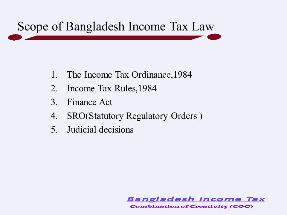 Scope of Bangladesh Income Tax Law